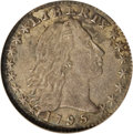 Early Half Dimes, 1795 H10C --Corroded--ANACS. XF40 Details...