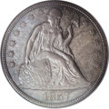 Seated Dollars, 1857 $1 MS62 PCGS....
