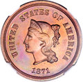 Patterns, 1871 5C Five Cents, Judd-1051, Pollock-1185, R.5, PR66 Red andBrown NGC....