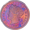 Patterns, 1881 5C Liberty Head Five Cents, Judd-1672, Pollock-1873, R.6-7,PR65 Red and Brown NGC....