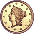 California Fractional Gold, 1853 50C Liberty Round 50 Cents, BG-428, R.3, MS65 PCGS....