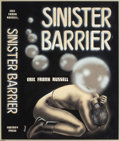 Pulp, Pulp-like, Digests, and Paperback Art, A. J. DONNELL (American, d. 2001). Sinister Barrier, bookcover, 1948. Mixed media on board. 15.5 x 13 in.. Signedlower...