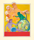 Pulp, Pulp-like, Digests, and Paperback Art, HAROLD W. MCCAULEY (American, 1913-1977). Hand, pulp cover.Oil on board. 21.5 x 16.5 in.. Not signed. ...