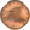 Patterns, 1855 P1C Flying Eagle Cent, Judd-168, Pollock-193, R.4, PR64 BrownNGC....
