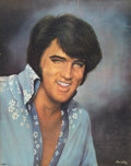 Music Memorabilia:Posters, Elvis Presley Concert Scarf with Las Vegas Hilton Posters.... (Total: 3 )