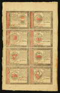 Colonial Notes:Continental Congress Issues, Continental Currency January 14, 1779 Half Sheet of Eight ChoiceAbout New.. ...
