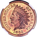 Patterns, 1864 1C One Cent, Judd-356, Pollock-426, Low R.6, MS65 Red andBrown NGC....