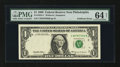 Error Notes:Foldovers, Fr. 1924-C $1 1999 Federal Reserve Note. PMG Choice Uncirculated 64Net.. ...