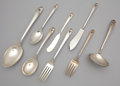 Silver Flatware, American:International, A THIRTY-THREE PIECE AMERICAN SILVER FLATWARE SERVICE .International Silver Co., Meriden, Connecticut, circa 1942.Marks:... (Total: 33 Items Items)