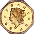 California Fractional Gold, 1871 $1 Liberty Octagonal 1 Dollar, BG-1104, High R.4, MS66PCGS....