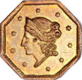 California Fractional Gold, 1853 $1 Liberty Octagonal 1 Dollar, BG-505, R.4, MS63 PCGS....
