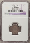 Early Dimes, 1796 10C --Obverse Damage--NGC Details. VG. JR-5, R.5....