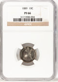 Proof Seated Dimes, 1889 10C PR66 NGC....