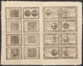 Colonial Notes:Continental Congress Issues, Continental Currency May 20, 1777 Complete Double Sheet of SixteenExtremely Fine-About New.. ...