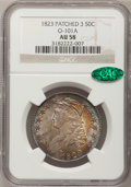 Bust Half Dollars, 1823 50C Patched 3 AU58 NGC. CAC. O-101a, R.1....
