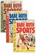 Golden Age (1938-1955):Non-Fiction, Babe Ruth Sports Comics Plus Group (Harvey, 1949-93) Condition:Average GD.... (Total: 14 Comic Books)