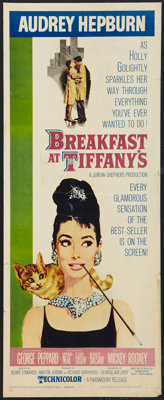 "Breakfast At Tiffany's (Paramount, 1961). Insert (14"" X 34.25""). Romance"