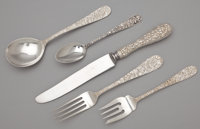 A FORTY-ONE PIECE AMERICAN SILVER FLATWARE SERVICE The Stieff Company, Baltimore, Maryland, circa 1892 Marks: