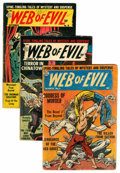 Golden Age (1938-1955):Horror, Web of Evil Group (Quality, 1953-54) Condition: Average GD....(Total: 13 Comic Books)