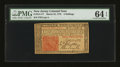 Colonial Notes:New Jersey, New Jersey March 25, 1776 3s PMG Choice Uncirculated 64 EPQ.. ...