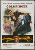 "Movie Posters:James Bond, Goldfinger (United Artists, R-1970s). French Petite (17"" X 24"").. ..."