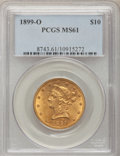Liberty Eagles, 1899-O $10 MS61 PCGS....