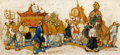 Mainstream Illustration, HENRY JAMES SOULEN (American, 1888-1965). Chinese Parade,Saturday Evening Post illustration. Oil on board. 13.5 x 29.5...