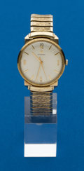 Timepieces:Wristwatch, Omega Gent's 14k Gold Wristwatch. ...