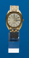Timepieces:Wristwatch, Omega Gold Top Constellation. ...