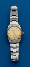 Timepieces:Wristwatch, Rolex Ref. 5500 Steel Oyster Perpetual Air King. ...