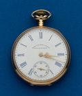 Timepieces:Pocket (post 1900), Waltham, 14k Private Label 17 Jewel, 16 Size. ...