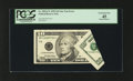 Error Notes:Foldovers, Fr. 2034-F* $10 1999 Federal Reserve Note. PCGS Extremely Fine 45.....