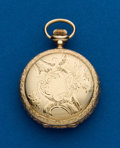 Timepieces:Pocket (post 1900), Waltham, 0 Size, 14k Hunters Case. ...