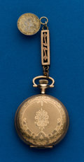 Timepieces:Pocket (post 1900), Waltham, 0 Size, Gold Filled Hunters Case. ...