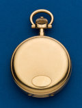 Timepieces:Pocket (post 1900), Swiss, Heavy 18k, 53 mm Hunters Case. ...