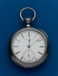 Timepieces:Pocket (pre 1900) , Rockford, 18 Size, Coin Silver Key Wind. ...