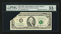 Error Notes:Foldovers, Fr. 2174-F $100 1993 Federal Reserve Note. PMG About Uncirculated55 EPQ.. ...