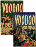 Golden Age (1938-1955):Horror, Voodoo #13 and 14 Group (Farrell, 1953) Condition: Average FN-....(Total: 2 Comic Books)