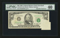 Error Notes:Foldovers, Fr. 2125-D $50 1993 Federal Reserve Note. PMG Extremely Fine 40.....