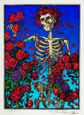 "Mainstream Illustration, STANLEY MOUSE (American, b. 1940) and ALTON KELLEY (American1940-2008). The Grateful Dead Skeleton and Roses with ""Ru..."