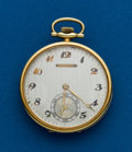Timepieces:Pocket (post 1900), Tiffany, Platinum & Yellow Gold Pocket Watch by Longines. ...