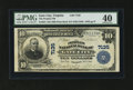 National Bank Notes:Virginia, Gate City, VA - $10 1902 Plain Back Fr. 624 The Peoples NB Ch. #7135. ...