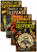 Golden Age (1938-1955):Horror, World of Suspense #1 and 6-8 Group (Atlas, 1956-57) Condition:Average FR.... (Total: 4 Comic Books)