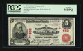 National Bank Notes:Pennsylvania, West Chester, PA - $5 1902 Red Seal Fr. 587 The NB of ChesterCounty Ch. # (E)552. ...