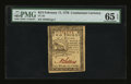"Colonial Notes:Continental Congress Issues, Continental Currency February 17, 1776 $2/3 Plate ""C"" PMG GemUncirculated 65 EPQ.. ..."