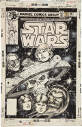 Original Comic Art:Covers, Carmine Infantino and Bob Wiacek Star Wars #19 CoverOriginal Art (Marvel, 1979)....