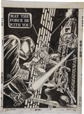 "Original Comic Art:Covers, Ernie Chan Marvel Special Edition #3 Star Wars ""May theForce Be With You"" Back Cover Original Art (Marvel, 19..."