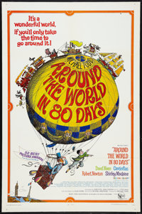 """Around the World in 80 Days (United Artists, R-1968). One Sheet (27"""" X 41""""), Lobby Cards (7) (10.5"""" X 14&..."""