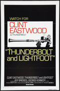 """Movie Posters:Crime, Thunderbolt and Lightfoot (United Artists, 1974). One Sheet (27"""" X41"""") Flat Folded Advance. Crime.. ..."""