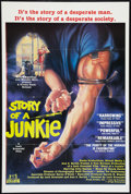 "Movie Posters:Documentary, Story of a Junkie (Troma, 1987). One Sheet (27"" X 41""). Documentary.. ..."